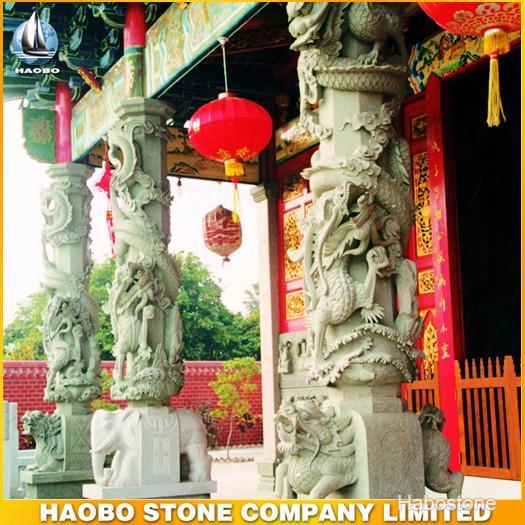 寺庙雕刻,寺庙龙柱,室外景观雕塑,现代寺庙雕刻龙柱