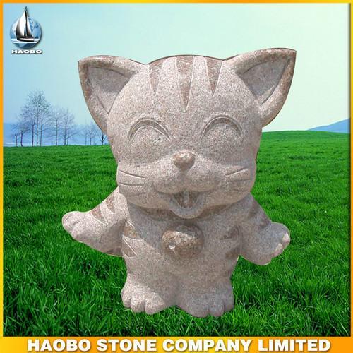 可爱的石雕小老虎,景观雕塑